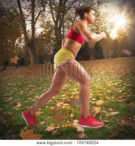 Run  in autumn