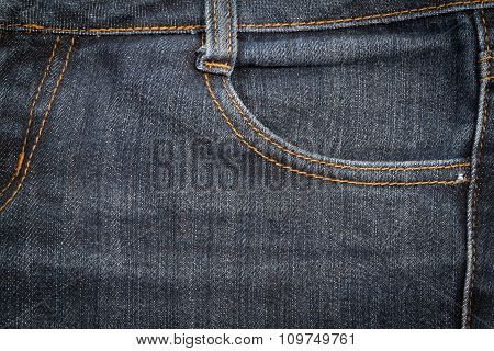 Jeans  Texture Background Close Up.