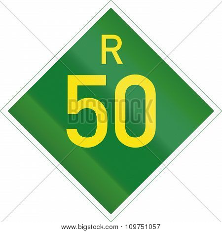 South Africa Provincial Route Shield - R50