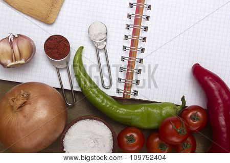 Common Spices And Vegetables For The Preparation
