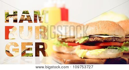 Classic Hamburgers with typography