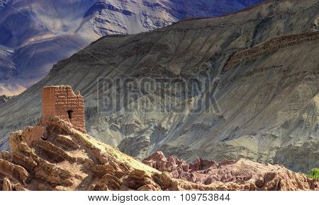 Ruins At Basgo Monastery, Ladakh, India