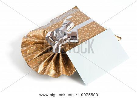 Caixa de presente com letra