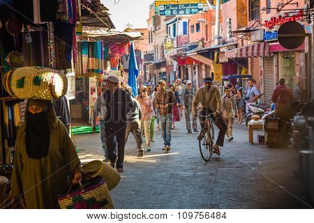 The Atmosphere In The Streets Of Old Marrakesh