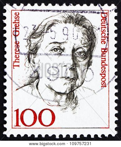 Postage Stamp Germany 1988 Therese Giehse, Actress