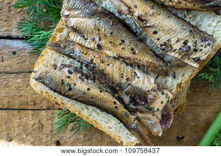 Simple Sandwich With Sardines
