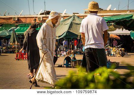 On The Jemaa El Fna Square In Marrakesh