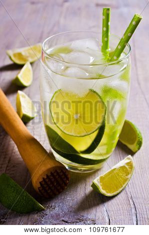 Cold Drink With Lime