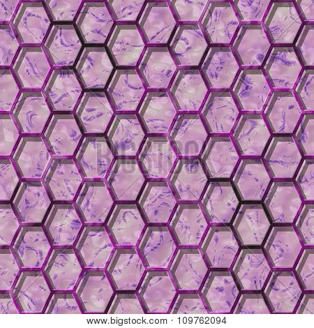 Abstract decorative grille - violet pattern