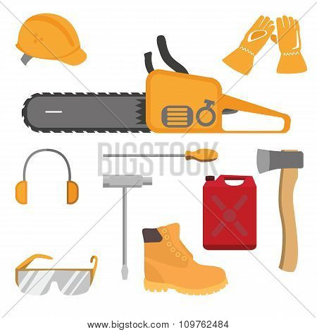 Chainsaw and accessories