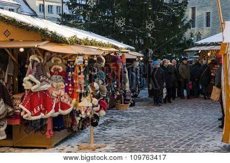 Tallinn , Estonia. It Is Estonia Oldest Christmas Market With A Very Long History Dating Back To 144