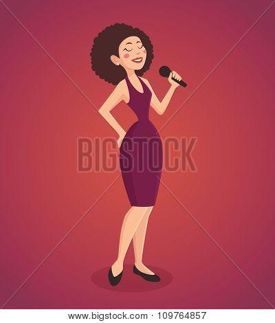 Singer Woman Illustration