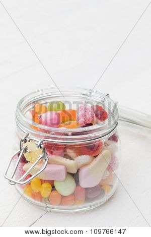 Jar Full Of Colorful Candies