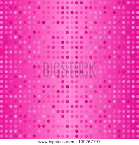Vector Dots on Pink Background. Halftone Texture.