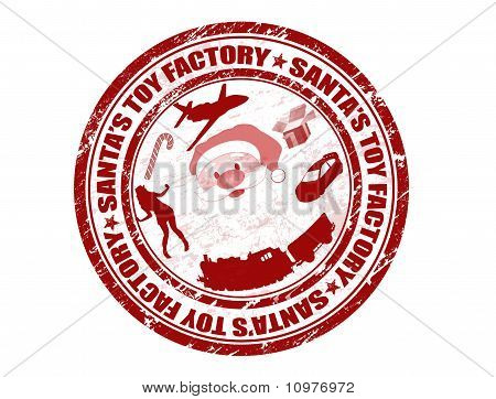 Santa's Toy Factory Stamp