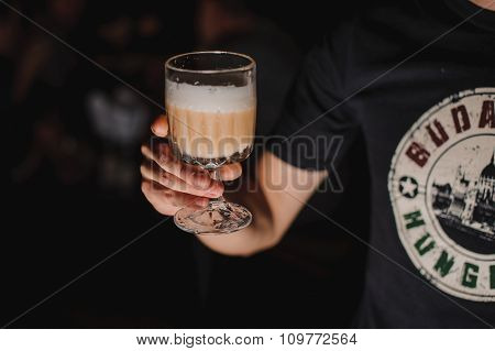 Male Hand Holding A Cocktail