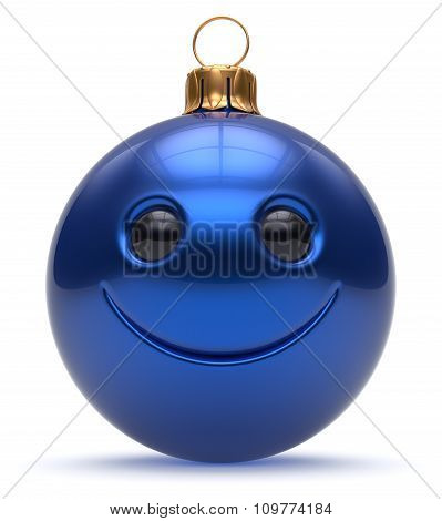 Christmas Ball Emoticon Smiley Face Happy New Year's Eve
