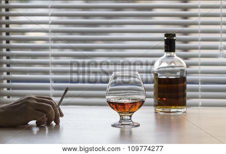 Brandy And A Cigarette.