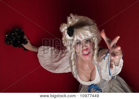 Woman Dressed As Marie Antoinette