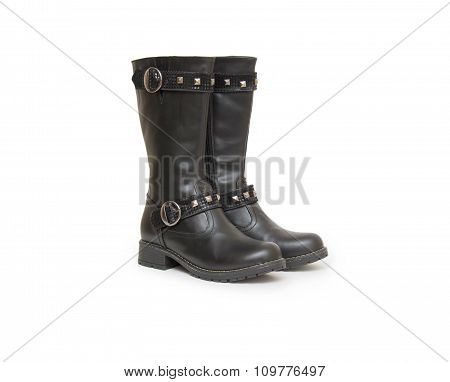 Stylish Boots Isolated On White