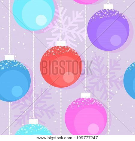 Vector Christmas  Background With Decorative Balls