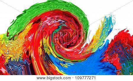 wavy paint