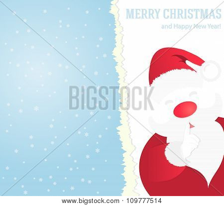 Christmas Background With Santa Claus.
