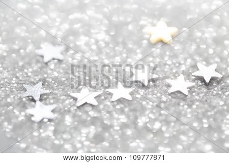 Silver abstract glitter background