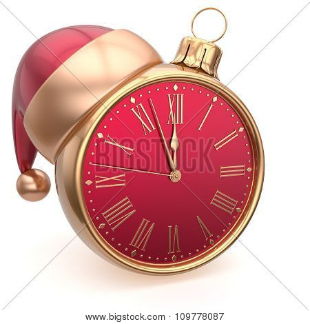 Alarm Clock Christmas Ball Decoration New Year's Eve Bauble