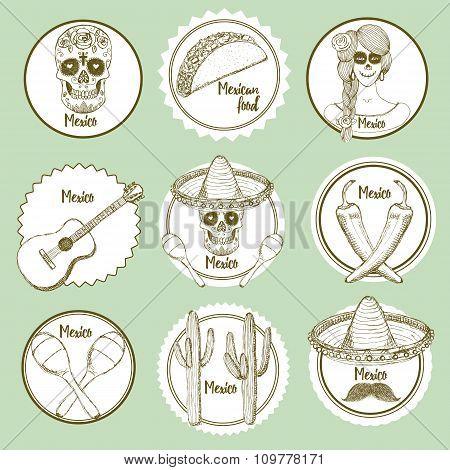 Sketch Mexican Logotypes