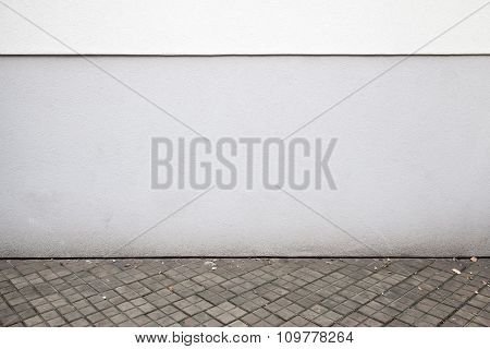 Abstract White Urban Background Interior With Dark Tiling