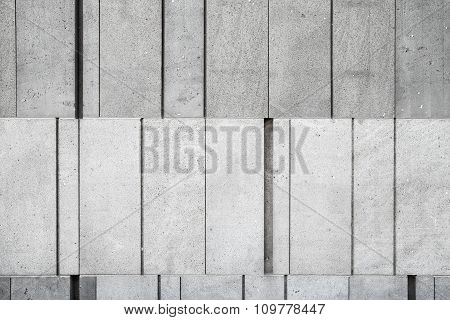 Gray Concrete Wall Made Of Different Size Blocks