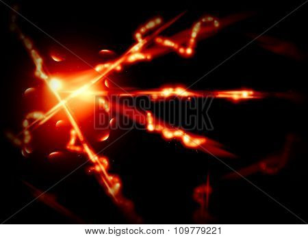 Abstract background with fire lines