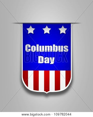 Ribbon On The American Columbus Day