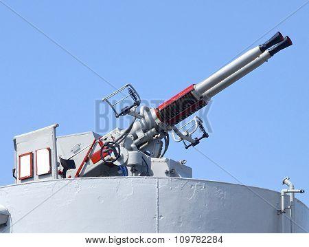 The closeup of defense cannon