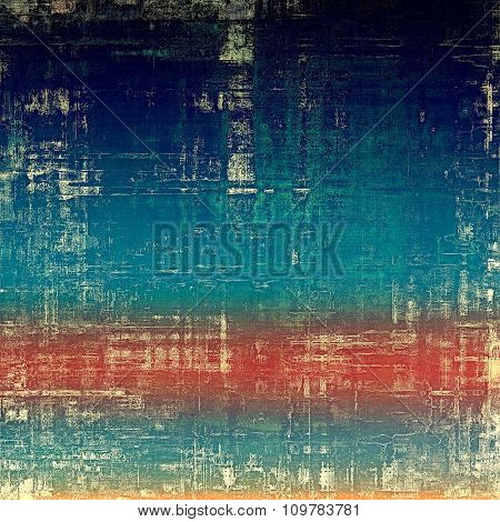Vintage antique textured background. With different color patterns: yellow (beige); red (orange); blue; white