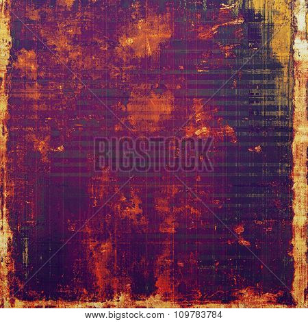 Abstract old background with rough grunge texture. With different color patterns: yellow (beige); red (orange); purple (violet); pink