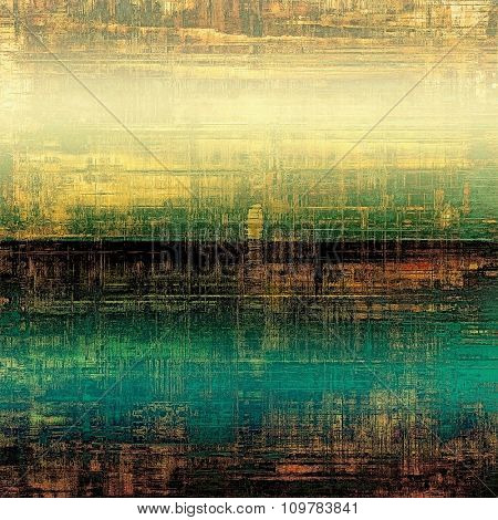 Old texture or antique background. With different color patterns: yellow (beige); brown; black; blue; green