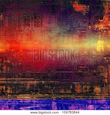 Designed grunge texture or retro background. With different color patterns: brown; red (orange); black; purple (violet)