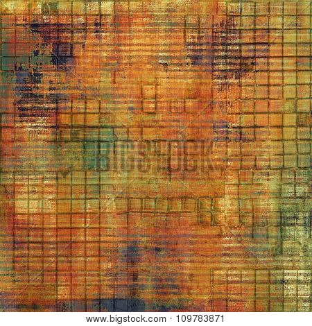 Grunge texture or background with space for text. With different color patterns: yellow (beige); brown; red (orange); green