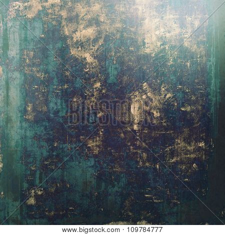 Vintage antique textured background. With different color patterns: brown; black; blue; green