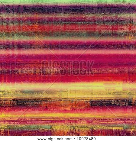 Retro background with grunge texture. With different color patterns: yellow (beige); red (orange); purple (violet); green; pink