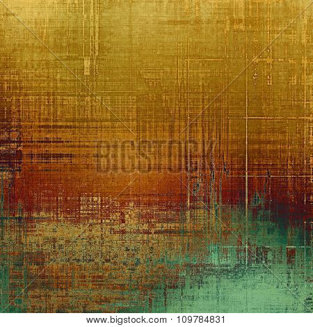 Art grunge vintage textured background. With different color patterns: yellow (beige); brown; green; cyan