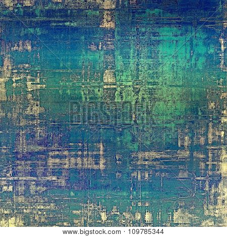 Grunge colorful background or old texture for creative design work. With different color patterns: blue; green; cyan; white