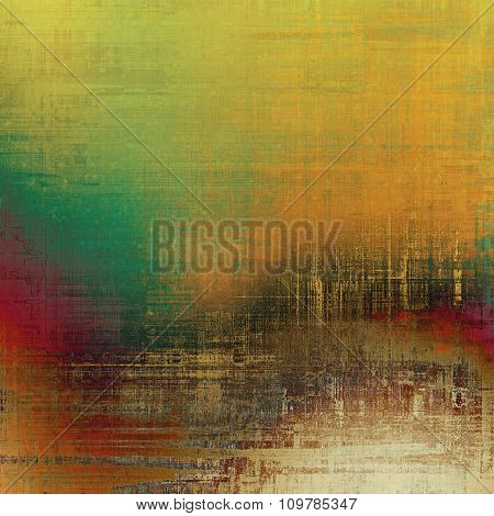 Grunge old texture as abstract background. With different color patterns: yellow (beige); brown; red (orange); green