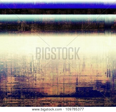 Old texture as abstract grunge background. With different color patterns: yellow (beige); black; blue; white