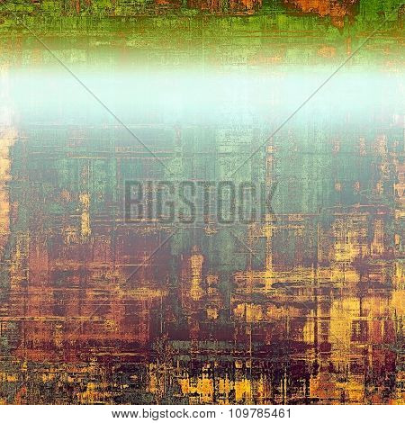 Vintage old texture with space for text or image, distressed grunge background. With different color patterns: yellow (beige); brown; blue; green
