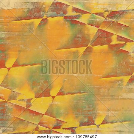 Old texture or antique background. With different color patterns: yellow (beige); brown; red (orange); green