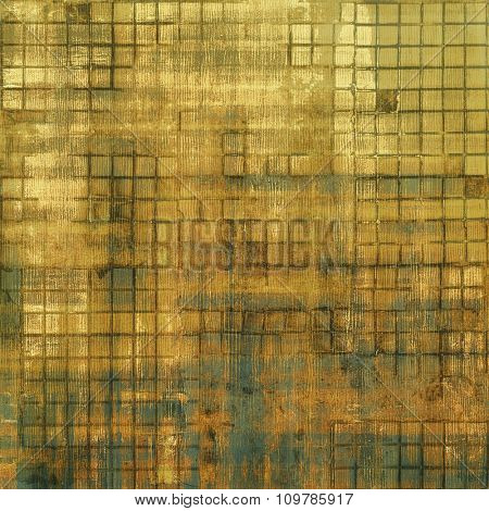 Abstract old background with rough grunge texture. With different color patterns: yellow (beige); brown; gray