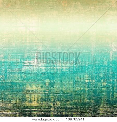 Grunge colorful background or old texture for creative design work. With different color patterns: yellow (beige); brown; blue; green